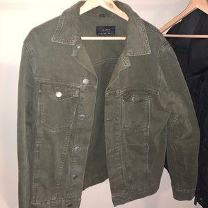 Green Jean Jacket/ ZARA